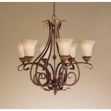 Feiss Sonoma Valley 6 Light Aged Tortoise Shell Chandelier Light