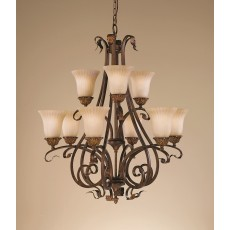 Feiss Sonoma Valley 9 Light Aged Tortoise Shell Chandelier Light