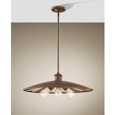 Feiss Urban Renewal 3 Light Astral Bronze Pendant Light