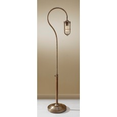 Feiss Urban Renewal 1 Light Dark Antique Brass Floor Lamp
