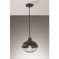 Feiss Urban Renewal 1 Light Antique Forged Iron Pendant Light