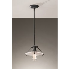 Feiss Urban Renewal 1 Light Weathered Zinc Pendant Light