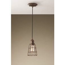 Feiss Urban Renewal 1 Light Parisian Bronze Pendant Light