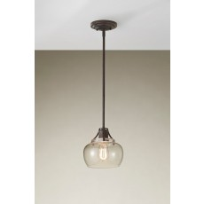 Feiss Urban Renewal 1 Light Rustic Iron Pendant Light