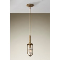Feiss Urban Renewal 1 Light Antique Brass Pendant Light
