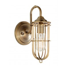 Feiss Urban Renewal 1 Light Dark Antique Brass Wall Light