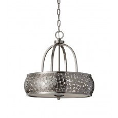 Feiss Zara 4 Light Brushed Steel Chandelier Light