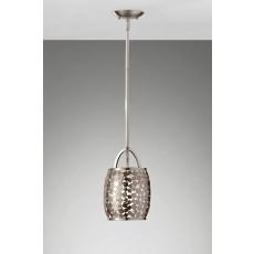 Feiss Zara 1 Light Brushed Steel Pendant Light