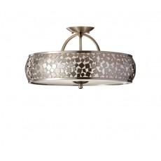 Feiss Zara 1 Light Brushed Steel Semi Flush Light