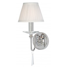 Elstead Finsbury Park 1 Light Polished Nickel Wall Light