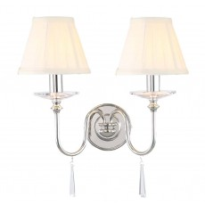 Elstead Finsbury Park 2 Light Polished Nickel Wall Light