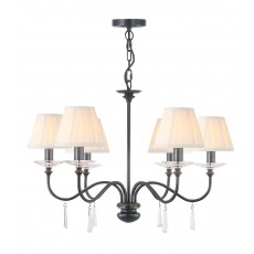 Elstead Finsbury Park 6 Light Old Bronze Chandelier Light