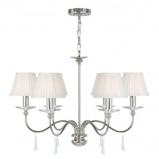 Elstead Finsbury Park 6 Light Polished Nickel Chandelier Light