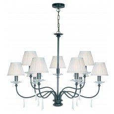 Elstead Finsbury Park 9 Light Old Bronze Chandelier Light