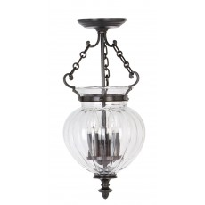 Elstead Finsbury Park 3 Light Old Bronze Pendant Light