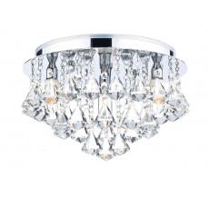 Dar Fringe 4 Light Polished Chrome Flush Light