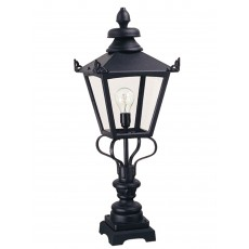 Elstead Grampian 1 Light Black Pedestal Lantern Light