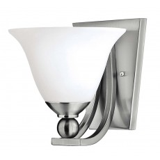 Hinkely Bolla 1 Light Brushed Nickel Wall Light