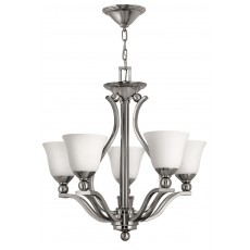 Hinkely Bolla 5 Light Brushed Nickel Chandelier Light