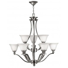 Hinkely Bolla 9 Light Brushed Nickel Chandelier Light