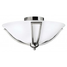 Hinkely Bolla 2 Light Brushed Nickel Flush Light