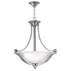 Hinkely Bolla 3 Light Brushed Nickel Uplight Pendant Light