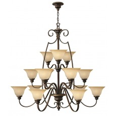 Hinkely Cello 15 Light Antique Bronze Chandelier Light