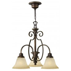 Hinkely Cello 3 Light Antique Bronze Downlight Chandelier Light