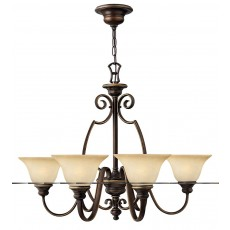 Hinkely Cello 6 Light Antique Bronze Chandelier Light