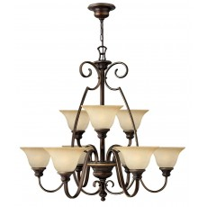 Hinkely Cello 9 Light Antique Bronze Chandelier Light