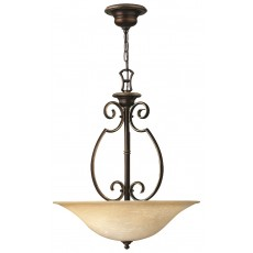 Elstead Hinkely Cello 3 Light Antique Bronze Chandelier Light