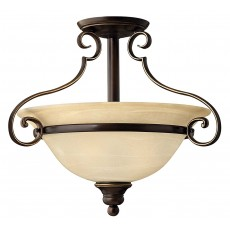 Hinkely Cello 3 Light Antique Bronze Semi Flush Light