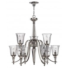 Hinkely Chandon 9 Light Sterling Chandelier Light