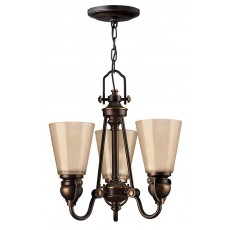 Hinkley Mayflower 3 Light Old Bronze Chandelier Light