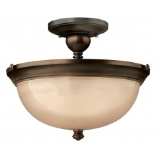 Hinkley Mayflower 3 Light Old Bronze Semi Flush Light