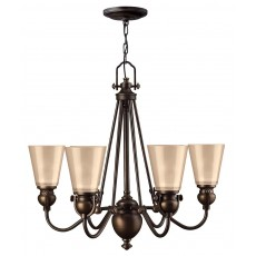 Hinkley Mayflower 6 Light Old Bronze Chandelier Light