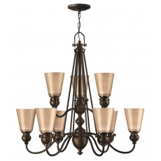 Hinkley Mayflower 9 Light Old Bronze Chandelier Light