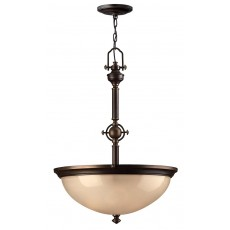 Hinkley Mayflower 3 Light Old Bronze Pendant Light