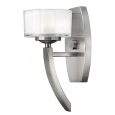 Hinkley Meridian 1 Light Brushed Nickel Wall Light