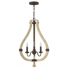 Hinkley Middlefield 3 Light Iron Rust Chandelier Light