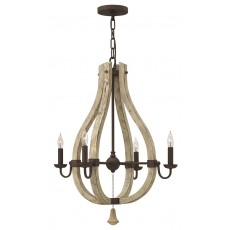 Hinkley Middlefield 5 Light Iron Rust Chandelier Light
