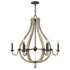 Hinkley Middlefield 6 Light Iron Rust Chandelier Light