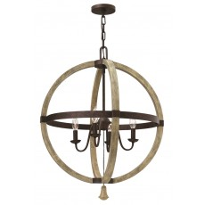 Hinkley Middlefield 4 Light Iron Rust Chandelier Light