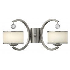 Hinkley Monaco 2 Light Brushed Nickel Wall Light