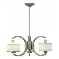 Hinkley Monaco 3 Light Brushed Nickel Chandelier