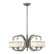 Hinkley Monaco 5 Light Brushed Nickel Chandelier