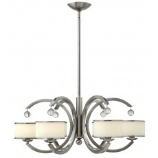 Hinkley Monaco 6 Light Brushed Nickel Chandelier