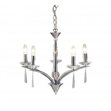 Dar Hyperion 5 Light Polished Chrome Pendant Light