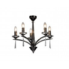 Dar Hyperion 5 Light Black Chrome Pendant Light
