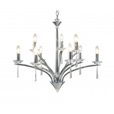 Dar Hyperion 9 Light Polished Chrome Pendant Light